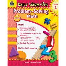 TCR 3575 Teacher Created Resources Gr 1 Daily Math Problems Book Printed Book