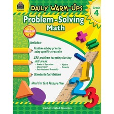 TCR 3578 Teacher Created Resources Gr 4 Daily Math Problems Book Printed Book