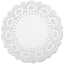 SPR 99825 Sparco White Round Doilies SPR99825