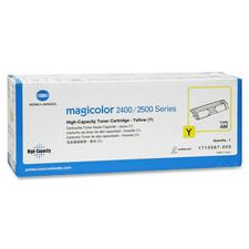 Konica Minolta Yellow High Capacity Toner Cartridge for Magicolor 2400 Series