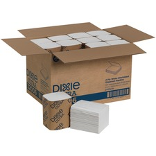 Dixie Ultra® Interfold Napkin Dispenser Refill - 2 Ply - Interfolded - White - Soft, Absorbent, Chlorine-free, Compostable - 250 Quantity Per Bundle - 6000 / Carton