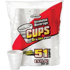 DCC 8RP51 Dart Insulated 8-1/2 oz. Beverage Cups DCC8RP51
