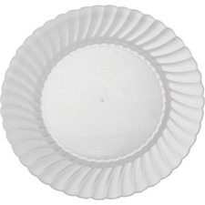 """Classicware 9"""" Round Heavyweight Plate - 9"""" Diameter Plate - Polystyrene - Disposable - Clear - 180 Piece(s) / Carton"""
