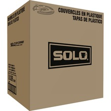SCC DLX8R00007CT Solo Cup Scored Tab 8 oz. Hot Cup Lids