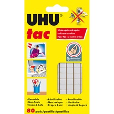 Staedtler UHU Tac Adhesive Squares - Residue-free, Non-toxic, Reusable - 1 Pack - White