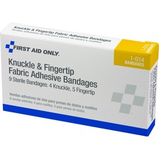 FAO 1014 First Aid Only Knuckle/Finger Fabric Adhes Bandages FAO1014