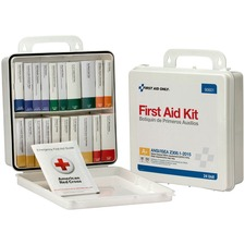 """First Aid Only 50-Person Unitized Plastic First Aid Kit - ANSI Compliant - 24 x Piece(s) For 50 x Individual(s) - 3"""" Height x 10"""" Width x 10"""" Length - Plastic Case - 1 Each"""