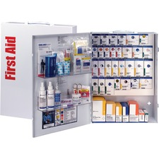 """First Aid Only XL SmartCompliance General Business First Aid Cabinet without Medications, Metal - 17"""" x 5.8"""" x 22.5"""" - Wall Mountable, Carrying Handle - White - Steel"""