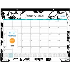 BLS 100014 Blue Sky Barcelona 22x17 Monthly Desk Pad BLS100014