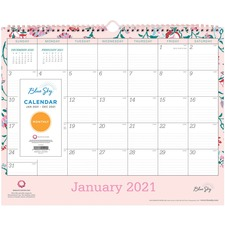 BLS 101630 Blue Sky BCA Alexandra Wall Calendar BLS101630
