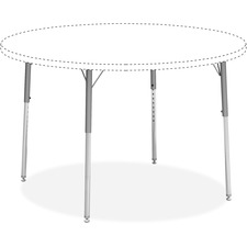 LLR 99926 Lorell Classroom Activity Table Std Ht Adj Leg Kit LLR99926