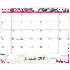 BLS 101716 Blue Sky Dahlia Wall Calendar BLS101716