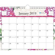 BLS 101718 Blue Sky Dahlia Wall Calendar BLS101718