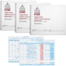 DOM 210BD Dome Publishing Check/Deposit Register DOM210BD