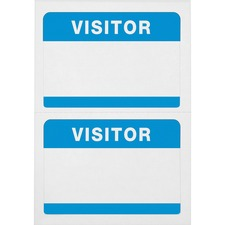 AVT 97190 Advantus Self-Adhesive Visitor Badges AVT97190