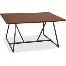 """Safco Oasis Sitting-Height Teaming Table - High Pressure Laminate (HPL), Cherry Top - 60"""" Table Top Width x 48"""" Table Top Depth - 29.50"""" Height - Assembly Required"""