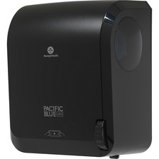 "Pacific Blue Ultra Mechanical Paper Towel Dispenser by GP PRO - 16"" Height x 12.9"" Width x 8.9"" Depth - Black - Durable, Heavy Duty, Touch-free"