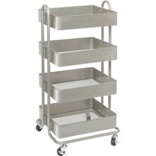 LLR 45652 Lorell Storage Basket Cart