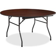 LLR 65763 Lorell Mahogany Round Banquet Table