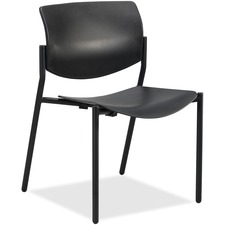 LLR 83113 Lorell Stack Chairs with Molded Plastic Seat & Back