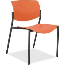 LLR 83113A203 Lorell Stack Chairs with Molded Plastic Seat & Back