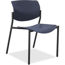 LLR 83113A204 Lorell Stack Chairs with Molded Plastic Seat & Back