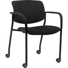 LLR 83115 Lorell Stack Chairs with Plastic Back & Fabric Seat