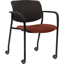 LLR 83115A203 Lorell Stack Chairs with Plastic Back & Fabric Seat