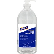 Genuine Joe Gel Hand Sanitizer - Fresh Citrus Scent - 67.6 fl oz (1999.2 mL) - Kill Germs, Bacteria Remover - Hand - Clear - Anti-bacterial, Hygienic, Moisturizing, Non-drying - 1 Each