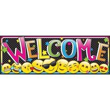 ASH 11310 Ashley Prod. Magnetic Emoji Welcome Banner ASH11310