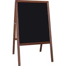 FLP 31221 Flipside Prod. Stained Black Chalkboard Easel FLP31221