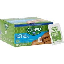 "Curad Sterile Alcohol Swabs - 1"" Width x 1"" Depth - 200 / Box"