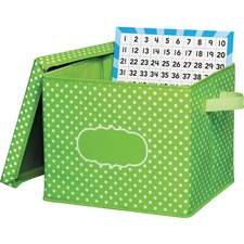 TCR 20820 Teacher Created Res. Classrm Orgnztion Bins w Dots TCR20820