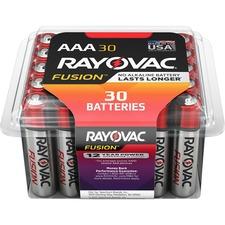 Rayovac Fusion Alkaline AAA Batteries - AAA - Alkaline - 30 / Pack