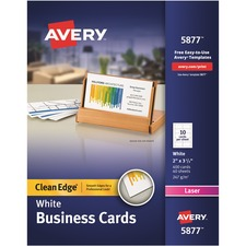AVE 5877 Avery Premium Clean Edge Business Cards AVE5877