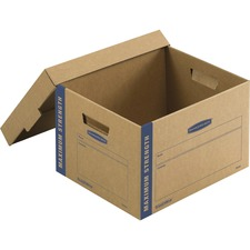 FEL 7710201 Bankers Box SmoothMove™ Maximum Strength Moving Boxes, Small, 8 Pack