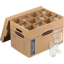 """FEL 7710302 Bankers Box Bankers Box SmoothMove™ Kitchen Moving Kit, includes: 1 box, dividers, 40ft. foam, 12""""H x 12.25""""W x 18.5""""D (7712302)"""