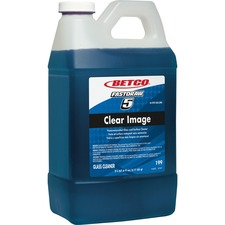 Betco Clear Image Concentrated Glass Cleaner - Concentrate Liquid - 0.50 gal (64 fl oz) - Rain Fresh Scent - 1 Each - Blue