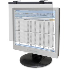 """Business Source 19""""-20"""" LCD Privacy/Antiglare Filter Black - For 19"""", 20""""LCD Monitor"""