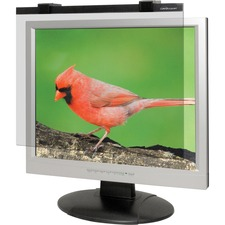 "Business Source 19""-20"" LCD Monitor Antiglare Filter Black - For 19"", 20""LCD Monitor"