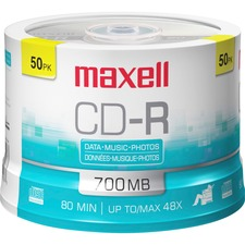 Maxell 648250 CD Recordable Media