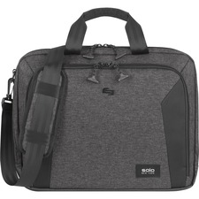 "USL NOM30110 Solo Voyage Carrying Case (Briefcase) for 15.6"" Notebook - Gray, Black"