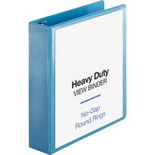 "Business Source Premium Round Ring View Binder - 2"" Binder Capacity - Letter - 8 1/2"" x 11"" Sheet Size - 475 Sheet Capacity - Round Ring Fastener(s) - 2 Internal Pocket(s) - Polypropylene, Board, Chipboard - Light Blue - 1 Each"