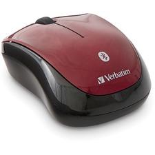VER 70240 Verbatim Bluetooth Wireless Tablet Multi-Trac Blue LED Mouse - Garnet