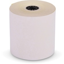 "ICONEX Carbonless Paper - 3"" x 90 ft - 10 / Carton - White, Yellow"