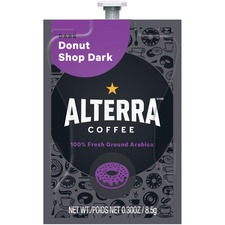 Mars Drinks Alterra Donut Shop Dark Coffee Single - Donut Shop Blend, Classic, Arabica, Chocolate - Dark - 100 / Carton