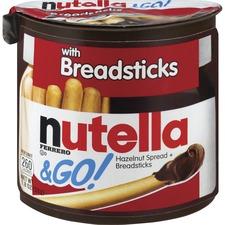 Nutella Nutella & GO Hazelnut Spread & Breadsticks - 1.23 oz - 12 / Box