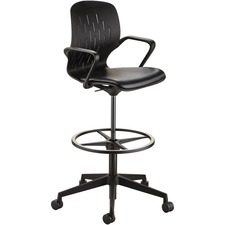 SAF 7014BL Safco Shell Extended-Height Chair