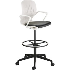 SAF 7014WH Safco Shell Extended-Height Chair