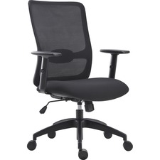 LLR 54865 Lorell SOHO Collection Lifting Armrest Staff Chair